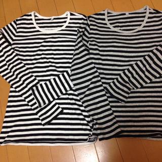 ムジルシリョウヒン(MUJI (無印良品))の長袖Tシャツ 2枚 XS(Tシャツ/カットソー)