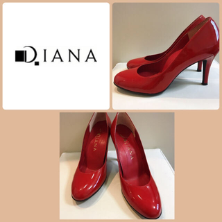 ダイアナ(DIANA)の専用ページです♡ダイアナ♡レッドエナメル、トリコロール2点です♡(ハイヒール/パンプス)