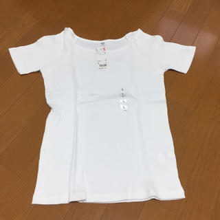 ユニクロ(UNIQLO)の新品 ユニクロ リブバレエネックT 値下げしました✨(Tシャツ(半袖/袖なし))