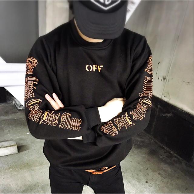 OFF-WHITE(オフホワイト)の即完売商品! Vlone×off white トレーナー スウェット パーカー  メンズのトップス(スウェット)の商品写真