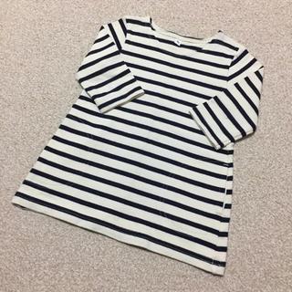 ムジルシリョウヒン(MUJI (無印良品))の【90】無印 ボーダー チュニック(Tシャツ/カットソー)