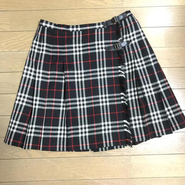 BURBERRY(バーバリー)のBurberry38黒 白 赤 タータンチェック♡スカート レディースのスカート(ひざ丈スカート)の商品写真