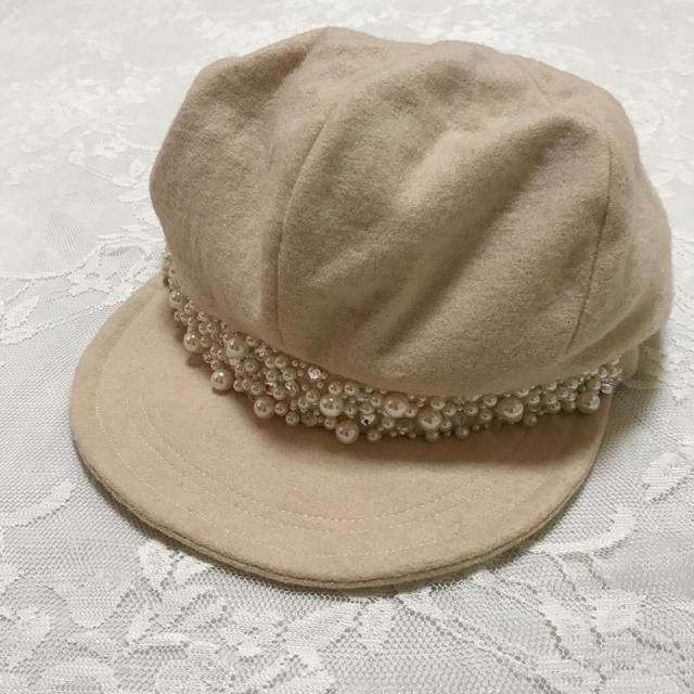 EmiriaWiz(エミリアウィズ)の新品未使用 エミリアウィズ パールビジューキャスケット ベージュ レディースの帽子(キャスケット)の商品写真