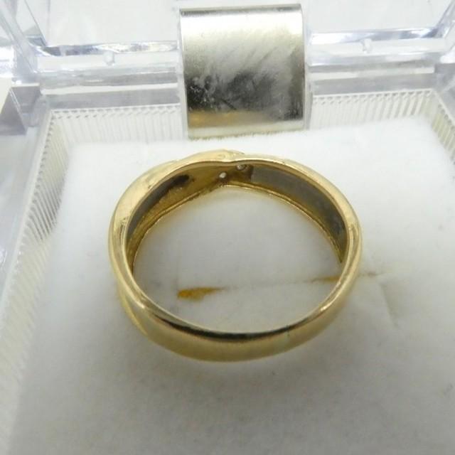 専用です K18 Pt900 コンビ 合計 0.02ct ダイヤリング 7号   レディースのアクセサリー(リング(指輪))の商品写真