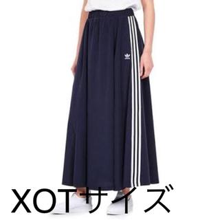 アディダス(adidas)の【新品】アディダス ロングスカート XOTサイズ(ロングスカート)