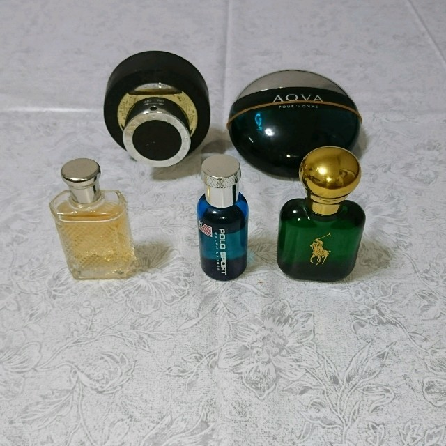on sale f3473 bf954 メンズ 香水5点セット ブルガリブラック ポロスポーツ他3個 の ...