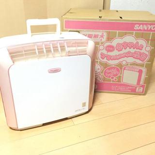 サンヨー(SANYO)のママと赤ちゃんにやさしいヒーターレスファン方式! 吹出し口が熱くならず安心✨(ファンヒーター)