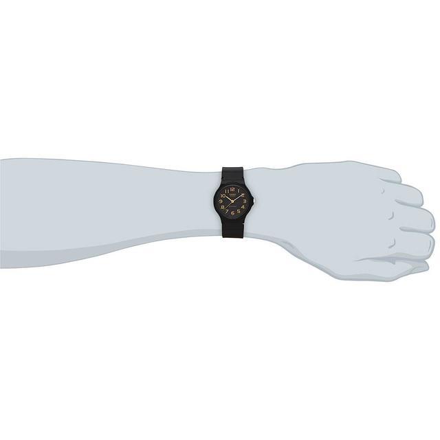 CASIO 腕時計 スタンダードアナログウォッチ ブラック×ゴールド 海外モデル メンズの時計(腕時計(アナログ))の商品写真