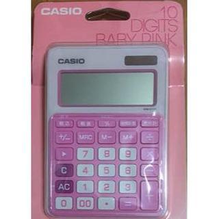 カシオ(CASIO)の電卓 カシオ 10 DIGITS BABY PINK 新品 送料無料(その他)