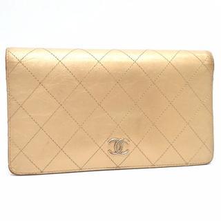 シャネル(CHANEL)のA271 中古 シャネル ビコローレ 二つ折り 長財布 ゴールド×ピンク(財布)