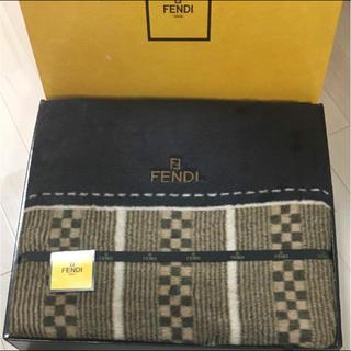 フェンディ(FENDI)の新品‼️フェンディ 綿毛布 シルク シーツ ブランケット(毛布)