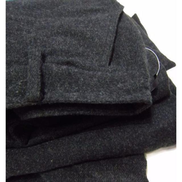 W67 新品Rutia ブーツに合う 秋冬起毛ガウチョパンツ 黒 レディースのパンツ(その他)の商品写真