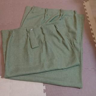 ムジルシリョウヒン(MUJI (無印良品))の無印 カーテン 防災 遮光 グリーン 100×178(カーテン)