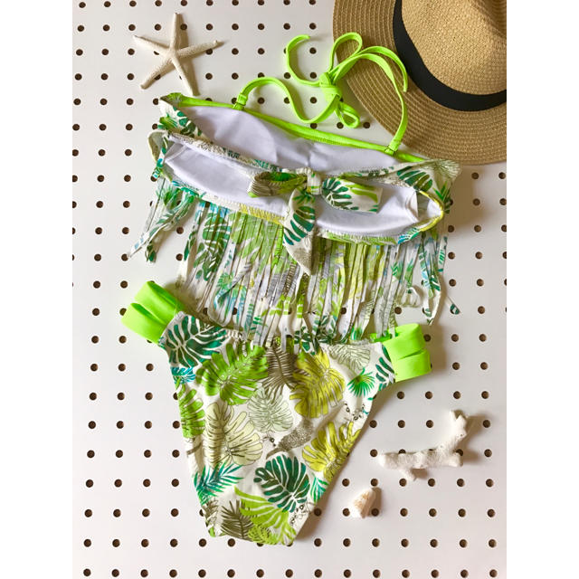 BONITO BIKINI  フリンジビキニ グリーン ハワイアン 可愛い  レディースの水着/浴衣(水着)の商品写真