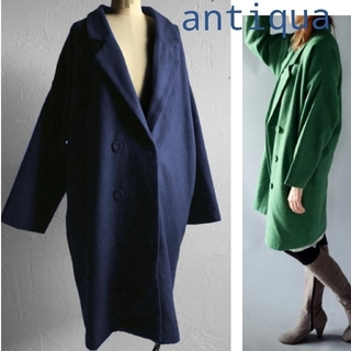アンティカ(antiqua)の新品未使用/antiqua テーラードダブルコート(グリーン)(チェスターコート)