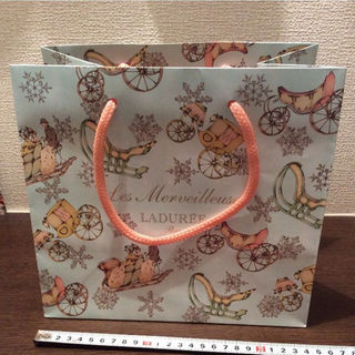 レメルヴェイユーズラデュレ(Les Merveilleuses LADUREE)のLADUREE  紙袋 ショッパー(ショップ袋)