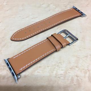 アップルウォッチ(Apple Watch)のApple Watch  アップルウォッチ 42mm 替え革ベルト 茶系 美品(腕時計(デジタル))