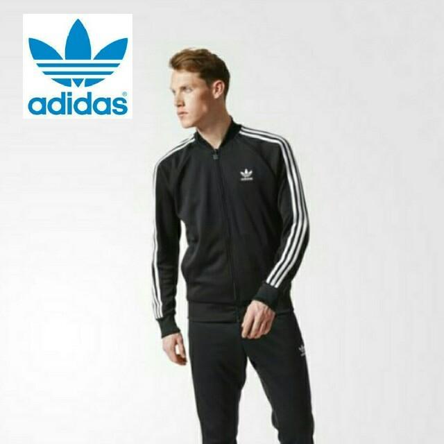 adidas(アディダス)の【Lサイズ】新品タグ付 adidas originals トラックジャケット 黒 メンズのトップス(ジャージ)の商品写真