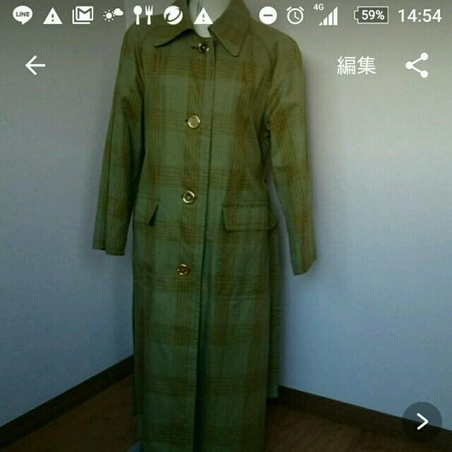 グレンチェック コート レディースのジャケット/アウター(トレンチコート)の商品写真