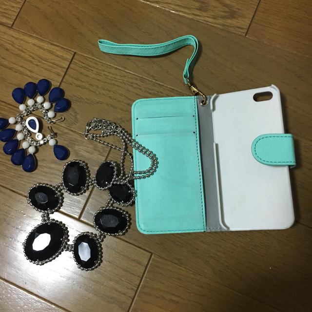 ネックレス ブラック 携帯ケース ピンク レディースのアクセサリー(ネックレス)の商品写真