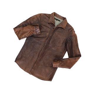 オーレット(OURET)の希少◆OURET◆レザーシャツジャケット◆オーレット(レザージャケット)