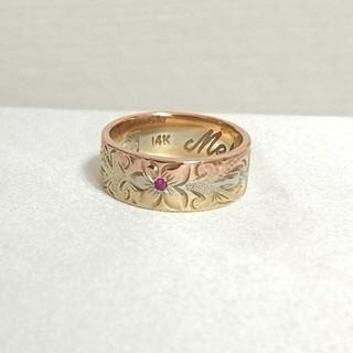 レザンジュ(Les anges)の14Kハワイアンジュエリー    三色グラデーション(リング(指輪))