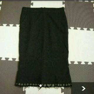 ルシェルブルー(LE CIEL BLEU)の美品★アンシャントマンのツイードタイトスカート(ひざ丈スカート)