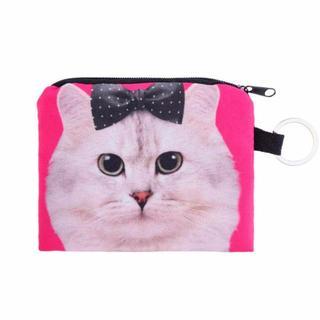 猫 ねこ 猫ポーチ 小物入れ・小銭入れ 新品未使用品 送料無料(猫)