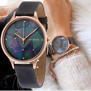 スカーゲン(SKAGEN)の31日までお値下げ✴︎ SKAGEN 星空グレーレザー 腕時計 (腕時計)