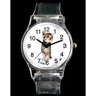 猫時計 猫腕時計 スポーツ クォーツ腕時計 新品未使用品 送料無料(猫)