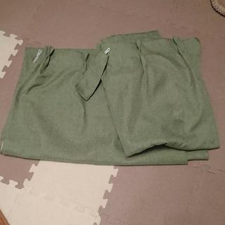 ムジルシリョウヒン(MUJI (無印良品))の無印 カーテン100×200明けグリーン2枚セット(カーテン)