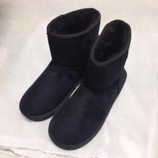 ぢゃなぽ様専用 新品✨ムートン ブラック(ブーツ)