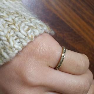 ハーフエタニティ k10 イエローゴールド ピンキーリング(リング(指輪))