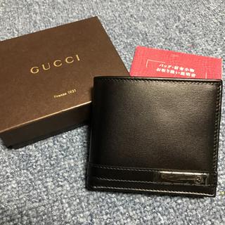グッチ(Gucci)の[正規品]新品!箱・保証書あり GUCCI2つ折り財布(折り財布)