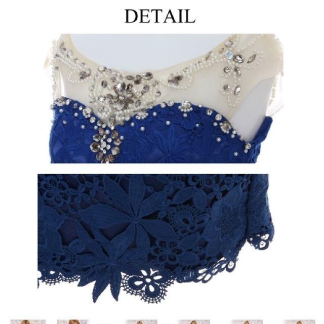 JEWELS(ジュエルズ)のjewel✨シースルー刺繍ドレス ブルー レディースのフォーマル/ドレス(ミニドレス)の商品写真