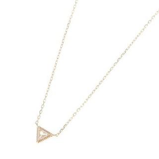 ココシュニック(COCOSHNIK)のcocoshnik ダイヤモンド トライアングルカット ネックレス(ネックレス)