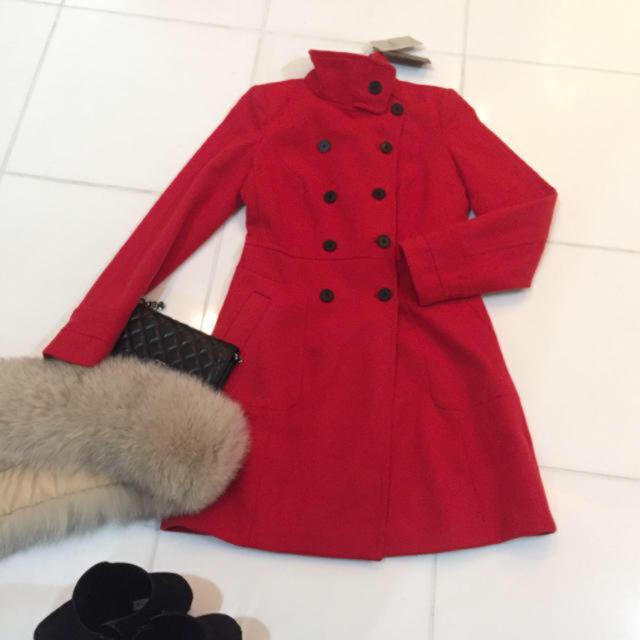 ZARA(ザラ)の新品タグ❤️Zara ダブルボタン ロングコート レディースのジャケット/アウター(ロングコート)の商品写真