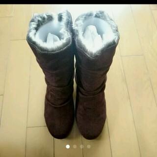 ファー付スエード調ブーツ(ブーツ)
