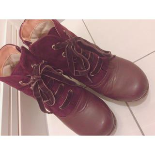 アシナガオジサン(あしながおじさん)の編み上げブーツ (ブーツ)