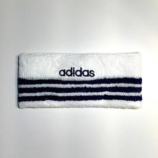 アディダス(adidas)の新品 adidas ヘッドバンド 90年代 デッドストック 送料込み 白紺(ヘアバンド)