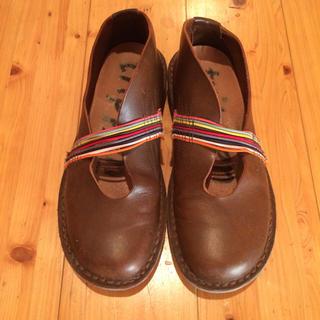 トリッペン(trippen)のトリッペン 革靴 こげ茶 レインボー  36(ローファー/革靴)
