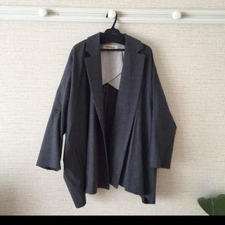 エンフォルド(ENFOLD)の美品 エンフォルド ワイドジャケット グレー(テーラードジャケット)