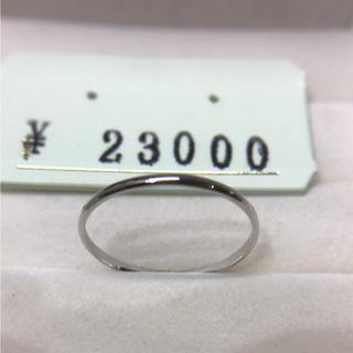. pt900  新品  20号 男女兼用  お揃いリングにも 安心の日本製(リング(指輪))