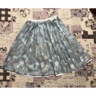 リバーシブルスカート(ひざ丈スカート)