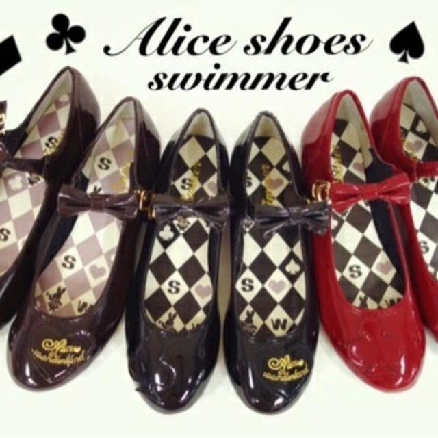 SWIMMER(スイマー)の新品未使用 タグつき スイマー アリスパンプス ブラウン #秋色探し レディースの靴/シューズ(ハイヒール/パンプス)の商品写真