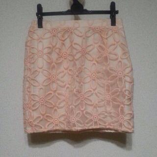 マーキュリーデュオ(MERCURYDUO)のオーガンジーフラワー刺繍スカート*(ミニスカート)