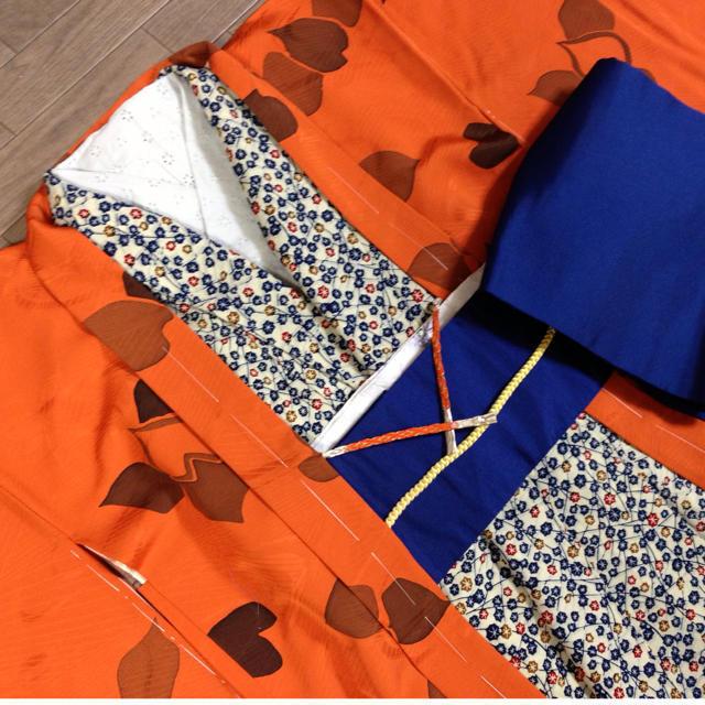 未使用品☆羽織・オレンジ レディースの水着/浴衣(着物)の商品写真