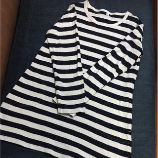ムジルシリョウヒン(MUJI (無印良品))の無印良品 ボーダーチュニック 150㎝(Tシャツ/カットソー)