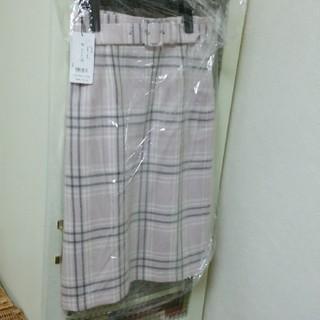 デビュードフィオレ(Debut de Fiore)の新品 ベルトチェックタイトスカート(ひざ丈スカート)