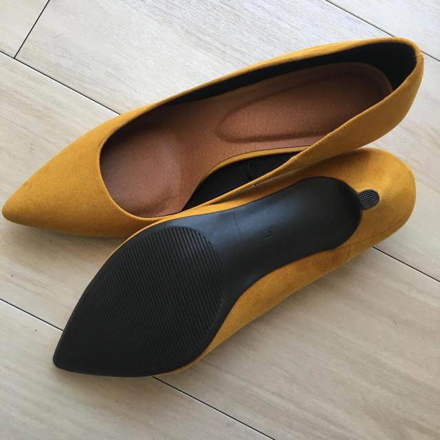 GU(ジーユー)のみぃ様専用!GUポインテッドパンプスLサイズイエローブラック レディースの靴/シューズ(ハイヒール/パンプス)の商品写真